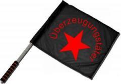 """Zum/zur  Fahne / Flagge (ca 40x35cm) """"Überzeugungstäter Stern"""" für 11,00 € gehen."""