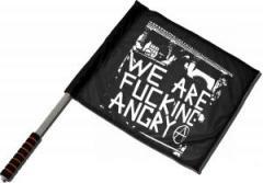 """Zum/zur  Fahne / Flagge (ca 40x35cm) """"We are fucking Angry!"""" für 11,00 € gehen."""