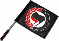 """Zum/zur  Fahne / Flagge (ca. 40x35cm) """"Working Class Antifa"""" für 11,00 € gehen."""