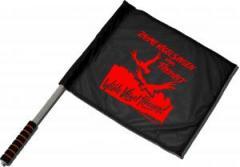 """Zum/zur  Fahne / Flagge (ca. 40x35cm) """"Zahme Vögel singen von Freiheit. Wilde Vögel fliegen! (rot)"""" für 11,00 € gehen."""