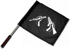 """Zum/zur  Fahne / Flagge (ca. 40x35cm) """"Zerbrochenes Gewehr"""" für 11,00 € gehen."""