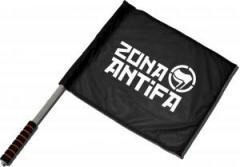"""Zum/zur  Fahne / Flagge (ca 40x35cm) """"Zona Antifa"""" für 11,00 € gehen."""