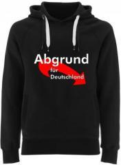 """Zum Fairtrade Pullover """"Abgrund für Deutschland"""" für 40,00 € gehen."""