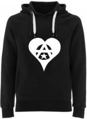 """Zum Fairtrade Pullover """"Anarchie Herz"""" für 40,00 € gehen."""
