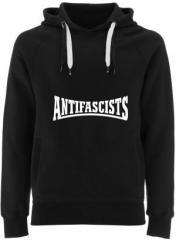"""Zum Fairtrade Pullover """"Antifascists"""" für 40,00 € gehen."""