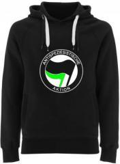 """Zum Fairtrade Pullover """"Antispeziesistische Aktion (schwarz/grün)"""" für 40,00 € gehen."""