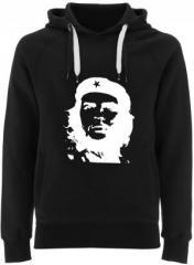 """Zum Fairtrade Pullover """"Che Guevara (weiß/schwarz)"""" für 40,00 € gehen."""
