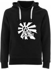 """Zum Fairtrade Pullover """"Create Anarchy"""" für 40,00 € gehen."""