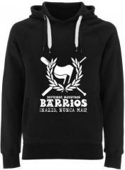 """Zum Fairtrade Pullover """"Defiende nuestros Barrios"""" für 40,00 € gehen."""