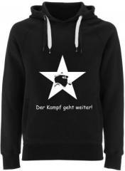 """Zum Fairtrade Pullover """"Der Kampf geht weiter!"""" für 38,99 € gehen."""