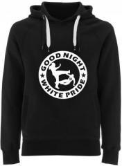 """Zum Fairtrade Pullover """"Good Night White Pride (dicker Rand)"""" für 40,00 € gehen."""