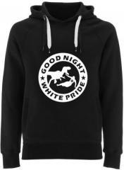 """Zum Fairtrade Pullover """"Good night white pride - Dinosaurier"""" für 40,00 € gehen."""