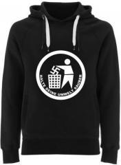 """Zum Fairtrade Pullover """"Halte Deine Umwelt sauber"""" für 38,99 € gehen."""