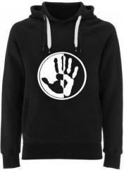 """Zum Fairtrade Pullover """"Hand"""" für 40,00 € gehen."""
