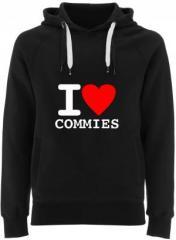 """Zum Fairtrade Pullover """"I love commies"""" für 40,00 € gehen."""