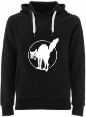"""Zum Fairtrade Pullover """"Katze"""" für 40,00 € gehen."""