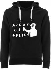 "Zum Fairtrade Pullover ""Nique la police"" für 40,00 € gehen."