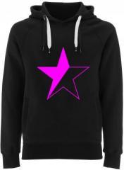 """Zum Fairtrade Pullover """"schwarz/pinker Stern"""" für 38,99 € gehen."""