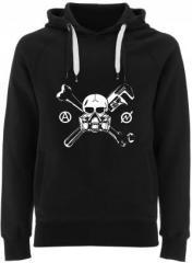 """Zum Fairtrade Pullover """"Skull - Gasmask"""" für 40,00 € gehen."""