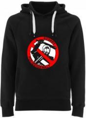 """Zum Fairtrade Pullover """"Stoppt Polizeigewalt"""" für 38,99 € gehen."""