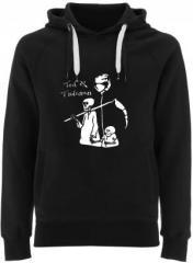 """Zum Fairtrade Pullover """"Tod und Tötchen"""" für 38,99 € gehen."""