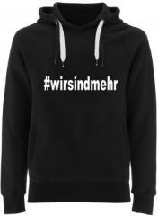 """Zum Fairtrade Pullover """"#wirsindmehr"""" für 40,00 € gehen."""