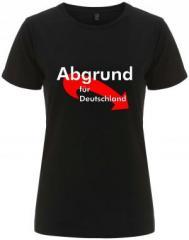 """Zum/zur  tailliertes Fairtrade T-Shirt """"Abgrund für Deutschland"""" für 17,55 € gehen."""