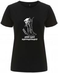 """Zum/zur  tailliertes Fairtrade T-Shirt """"Alle Tage Jagdsabotage"""" für 17,55 € gehen."""