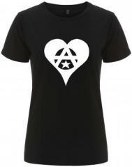 """Zum/zur  tailliertes Fairtrade T-Shirt """"Anarchie Herz"""" für 18,00 € gehen."""