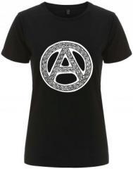 """Zum/zur  tailliertes Fairtrade T-Shirt """"Anarchie - Tribal"""" für 18,00 € gehen."""