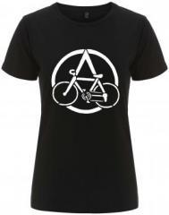 """Zum/zur  tailliertes Fairtrade T-Shirt """"Anarchocyclist"""" für 18,00 € gehen."""