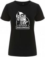 """Zum/zur  tailliertes Fairtrade T-Shirt """"Anarchy Punk"""" für 17,55 € gehen."""