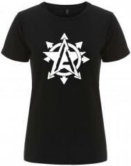 """Zum/zur  tailliertes Fairtrade T-Shirt """"Anarchy Star"""" für 18,00 € gehen."""