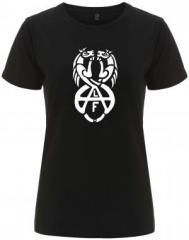 """Zum/zur  tailliertes Fairtrade T-Shirt """"Animal Liberation Front (ALF) Horses"""" für 18,00 € gehen."""