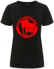 """Zum/zur  tailliertes Fairtrade T-Shirt """"Antifaschistische Aktion (1932, rot/rot)"""" für 18,00 € gehen."""
