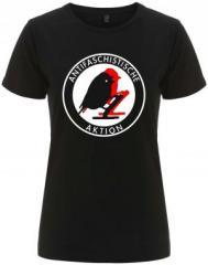 """Zum/zur  tailliertes Fairtrade T-Shirt """"Antifaschistische Aktion - Vögel"""" für 18,00 € gehen."""