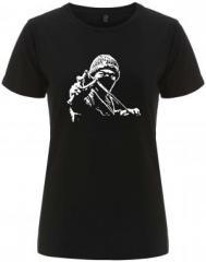 """Zum/zur  tailliertes Fairtrade T-Shirt """"Autonomer mit Zwille"""" für 18,00 € gehen."""