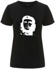 """Zum/zur  tailliertes Fairtrade T-Shirt """"Che Guevara (weiß/schwarz)"""" für 18,00 € gehen."""
