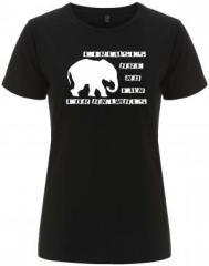 """Zum/zur  tailliertes Fairtrade T-Shirt """"Circuses are no fun for animals"""" für 18,00 € gehen."""