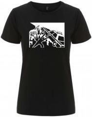 """Zum/zur  tailliertes Fairtrade T-Shirt """"Copcar"""" für 18,00 € gehen."""