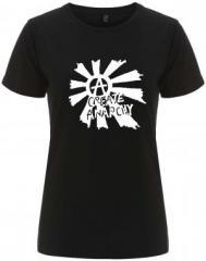 """Zum/zur  tailliertes Fairtrade T-Shirt """"Create Anarchy"""" für 17,55 € gehen."""