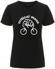"""Zum/zur  tailliertes Fairtrade T-Shirt """"Critical Mass"""" für 17,55 € gehen."""