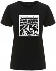 """Zum/zur  tailliertes Fairtrade T-Shirt """"Cross Border"""" für 18,00 € gehen."""