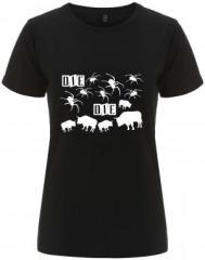 """Zum/zur  tailliertes Fairtrade T-Shirt """"Die spinnen die Bullen"""" für 18,00 € gehen."""