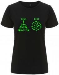 """Zum/zur  tailliertes Fairtrade T-Shirt """"Ego - Eco"""" für 18,00 € gehen."""