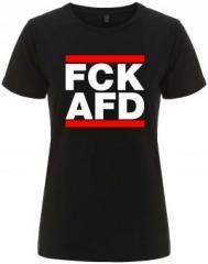 """Zum/zur  tailliertes Fairtrade T-Shirt """"FCK AFD"""" für 17,55 € gehen."""