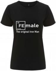 """Zum/zur  tailliertes Fairtrade T-Shirt """"Female - weiß"""" für 18,00 € gehen."""