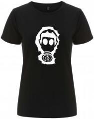 """Zum/zur  tailliertes Fairtrade T-Shirt """"Gasmaske"""" für 18,00 € gehen."""