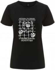 """Zum/zur  tailliertes Fairtrade T-Shirt """"Geboren, um keinen Winter zu erleben - Pelzhandel stoppen"""" für 17,55 € gehen."""