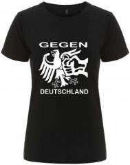 """Zum/zur  tailliertes Fairtrade T-Shirt """"Gegen Deutschland"""" für 17,55 € gehen."""